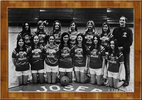 Saint Joseph's College women's basketball team, the first women's intercollegiate team to represent the college.