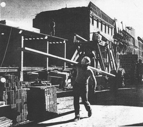 Construction worker at 2000 Block of South Street (1978)