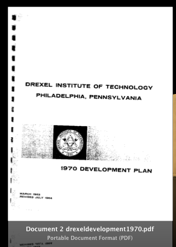Drexel Institute of Technology 1970 Redevelopment Plan