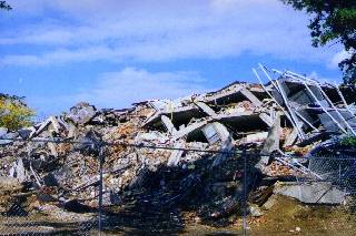 Debris of Building 3 after Implosion